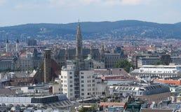 Urząd Miasta Wiedeń jak widzieć od Pierwszy okręgu, Austria Zdjęcie Stock