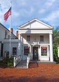 Urząd Pocztowy w historycznego budynku Bedford wiosce Nowy Jork obrazy royalty free