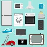 urządzeń projekta domu ikon kuchenny set twój ilustracji