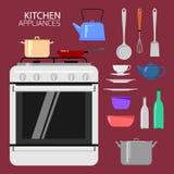 urządzeń tła ilustracyjny kuchenny biel Zdjęcie Stock