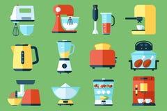 urządzeń tła ilustracyjny kuchenny biel Obrazy Royalty Free