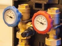 Urządzenia gorący i zimna woda Fotografia Stock