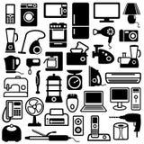 urządzenia stwarzać ognisko domowe ikony Fotografia Stock