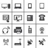 Urządzenie łącznościowe ikony Obraz Royalty Free