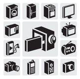 Urządzenie elektroniczne ikony ilustracja wektor
