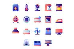 Urządzenie ikony set ilustracja wektor