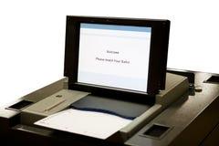 urządzenie optyczne skanowania głosowania Fotografia Stock