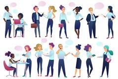 Urzędnicy opowiada do siebie zaludniają z gadka Komunikacyjnymi bąblami kom działania biznesu, kobiety dreamstime pola http href  royalty ilustracja