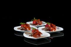 Urzędnika chińskiego jedzenia pieczeni gołąb Zdjęcie Royalty Free