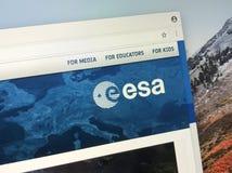 Urzędnika homepage europejska agencja kosmiczna ESA obraz royalty free