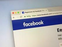Urzędnika homepage Facebook obraz stock