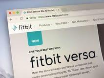 Urzędnika homepage Fitbit fotografia royalty free