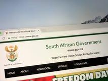 Urzędnika homepage rząd Południowa Afryka zdjęcie royalty free