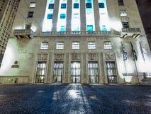 Urzędu Miasta budynek przy nocą Obraz Stock