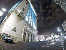 Urzędu Miasta budynek przy nocą Obrazy Royalty Free