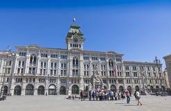 Urzędu Miasta budynek w Trieste, Włochy (Comune Di Triesti) Zdjęcia Stock