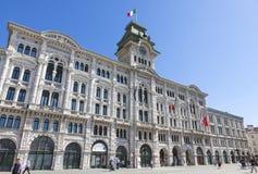 Urzędu Miasta budynek w Trieste, Włochy (Comune Di Triesti) Fotografia Stock