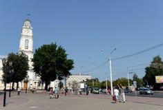 Urzędu Miasta kwadrat w dziejowej części Vitebsk Obraz Stock