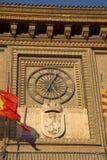 Urzędu Miasta zegar, Saragossa obrazy stock