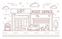 Urzędu pocztowego budynek ilustracji