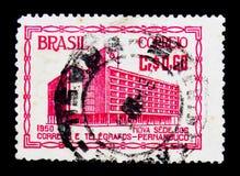 Urzędu pocztowego budynek, seria, około 1951 Zdjęcia Royalty Free