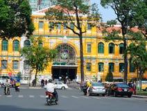 Urzędu Pocztowego budynek w Ho Chi Minh mieście Obraz Royalty Free