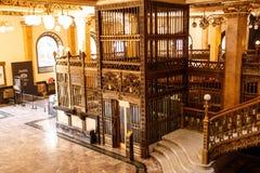 Urzędu pocztowego wnętrze w Meksyk -3 Obraz Royalty Free