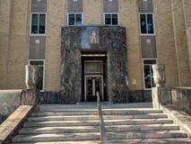Urzędów Miasta kroki, fasada & drzwi, Sioux spadki Zdjęcie Royalty Free