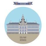 Urząd Miasta Antwerp, Belgia Obraz Stock