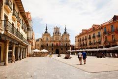 Urząd miasta Astorga Zdjęcia Stock