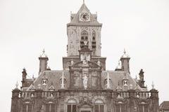 Urząd Miasta, Delft, Holandia Zdjęcia Royalty Free