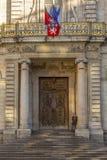 Urząd miasta fasadowy Lion Francja Zdjęcia Stock