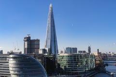 Urząd Miasta i czerep, Londyn Obraz Stock