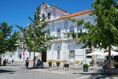 Urząd Miasta na placu Sertorio Evora Portugalia Obrazy Stock