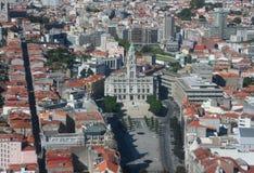 urząd miasta Oporto Obrazy Royalty Free