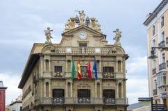 Urząd Miasta Pamplona, Hiszpania Zdjęcie Stock