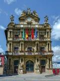 Urząd Miasta Pamplona, Hiszpania Zdjęcia Royalty Free