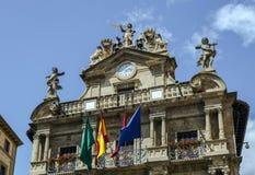 Urząd Miasta Pamplona, Hiszpania Fotografia Stock
