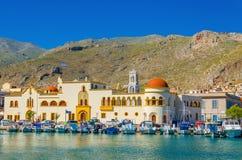 Urząd miasta Pohtia na Kalymnos wyspie, Grecja Obrazy Royalty Free