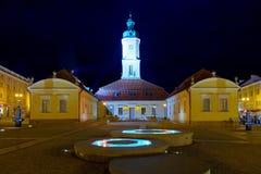 Urząd Miasta przy noc Zdjęcia Royalty Free