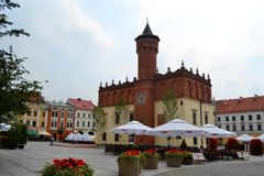 Urząd miasta, Tarnà ³ w fotografia stock