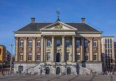 Urząd miasta w centrum Groningen Fotografia Stock