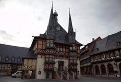 Urząd miasta Wernigerode, Niemcy Zdjęcie Stock