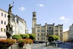 Urząd miasta Zittau w Niemcy Zdjęcia Stock