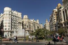 Urzędu miasta kwadrat od Walencja Zdjęcie Royalty Free
