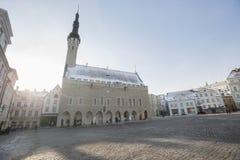 Urzędu Miasta kwadrat, Stary miasteczko, Tallinn, Estonia, Europa Zdjęcia Royalty Free