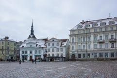 Urzędu Miasta kwadrat Tallinn Zdjęcie Royalty Free