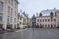 Urzędu Miasta kwadrat Tallinn Obrazy Stock