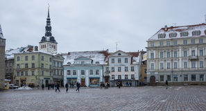 Urzędu Miasta kwadrat Tallinn Zdjęcia Royalty Free