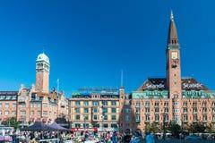 Urzędu Miasta kwadrat w Kopenhaga Zdjęcie Stock